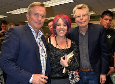 Stephen King, John Grisham, and Elicia Hyder